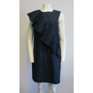 TED BAKER navy A-line shift dress Ted sz 3/8